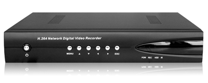 Network Security DVR 8 Channel H.264 Compression Real time monitoring